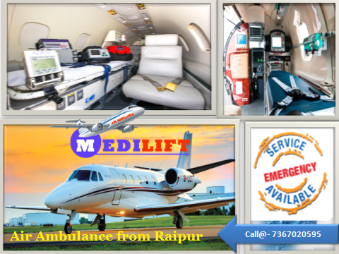 Air Ambulance from Raipur